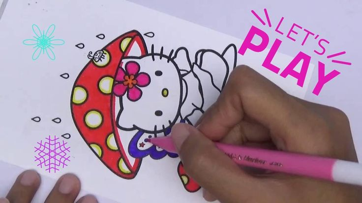 Pi n' Mo: Coloring Pages For Kids With Hello Kitty Coloring Book #Part 1...