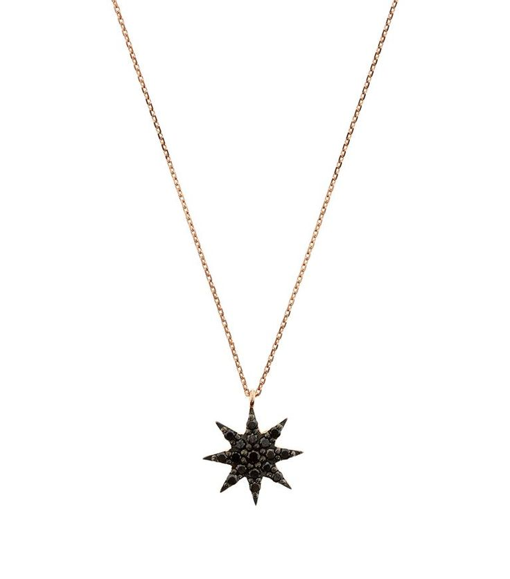 Accessories: Necklaces Bee Goddess Ishtar Star Black Diamond Necklace