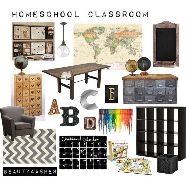 Minimalist Classroom Ideas : Homeschool classroom mood board i want all this in my