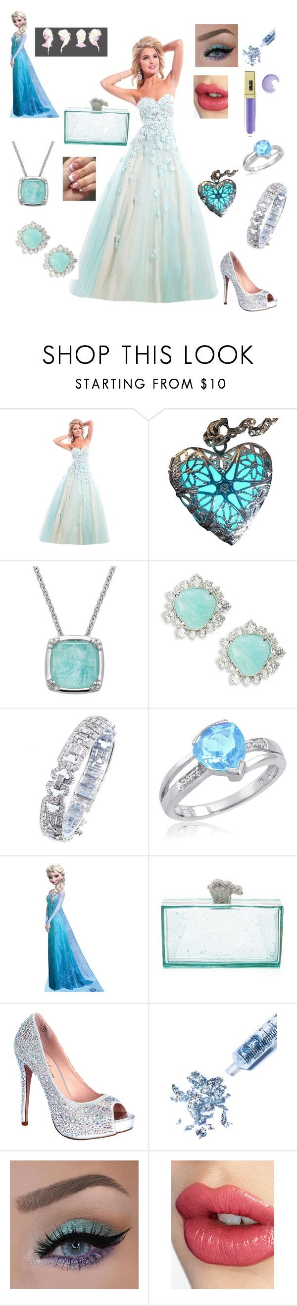"""""""Prom Elsa"""" by ejmfashionista ❤ liked on Polyvore featuring Rachel Allan, Lord & Taylor, Nadri, Amanda Rose Collection, Kate Spade, Lauren Lorraine, Glitter Injections, Charlotte Tilbury and Gerard Cosmetics"""