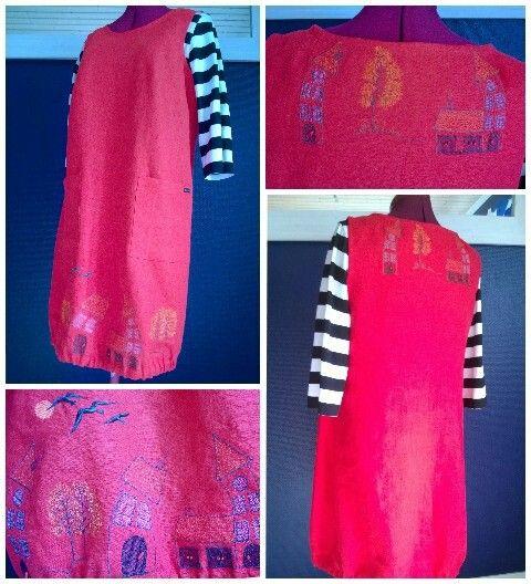 Wobbly house linen dress