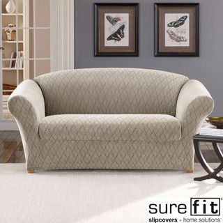 stretch braid pebble loveseat slipcover shopping big discounts on sure fit