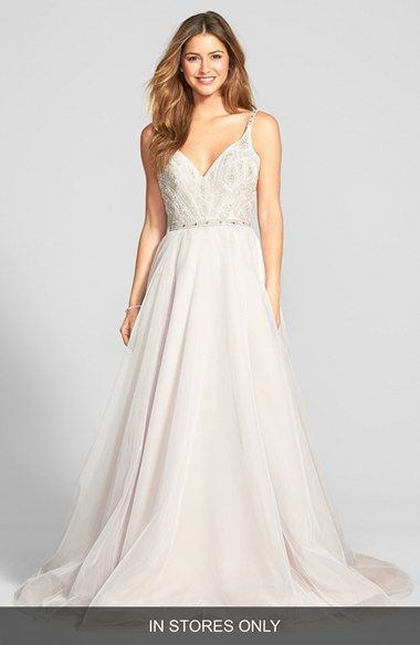 Simple Roxanne Beaded Bodice Gown Kleinfeld DressesWedding