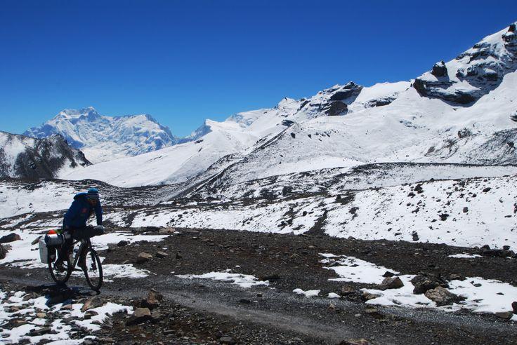 Cycling Annapurna Circuit. Zdjęcie z pierwszej wyprawy. Nepal Pazdziernik 2013. 2 km do przełęczy Thorung La 5419 mnpm