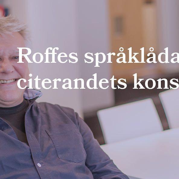"""I vårt senaste blogginlägg delar vår copywriter Rolf Stridh med sig av sina tankar om citat, pratminus och """"små gåsfötter"""". Låter det intressant? Läs mer på cordovan.se"""
