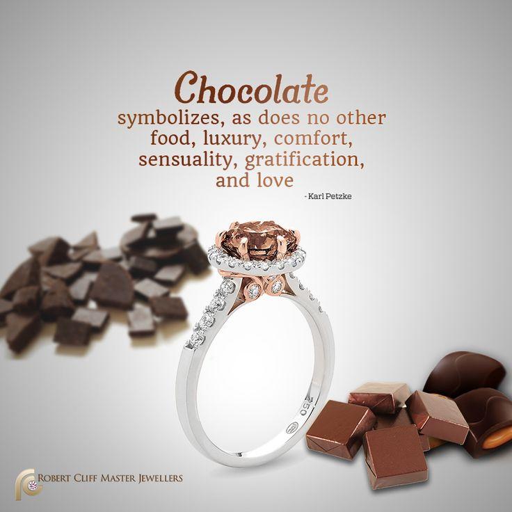For the love of #Chocolate! #ChocolateDiamonds #Diamonds #Argyle #stunningdiamond #engagementring #weddings #jewellerydesign #jewellery #Quote #jewelry #motto