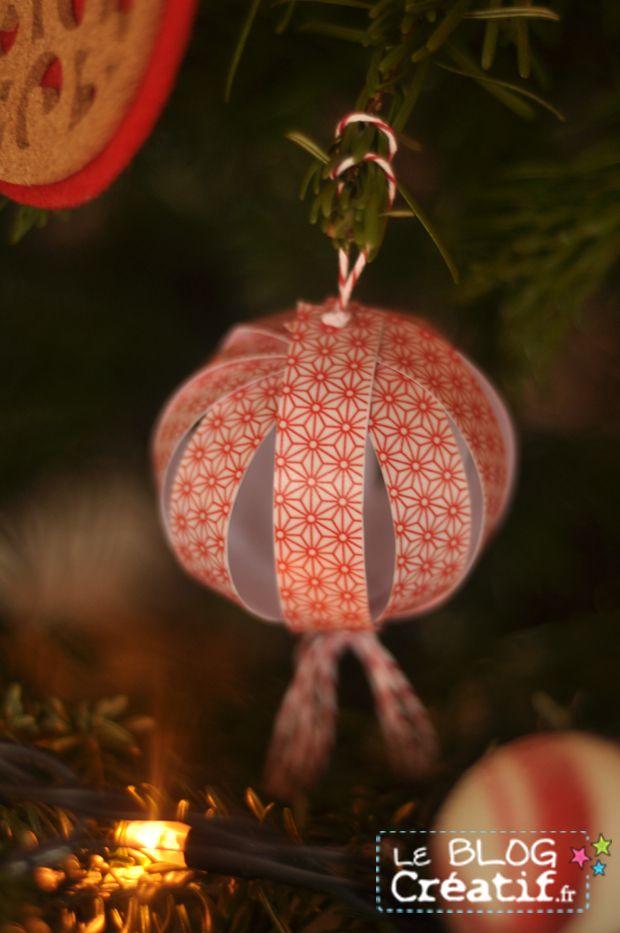 DIY: faites votre boule de Noël en papier!  #maskingtape