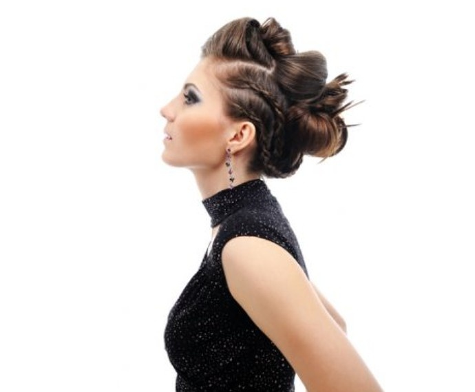 Hooked on rock'n roll? Try a hairstyle with intertwining braids to give you just the right amount of edginess