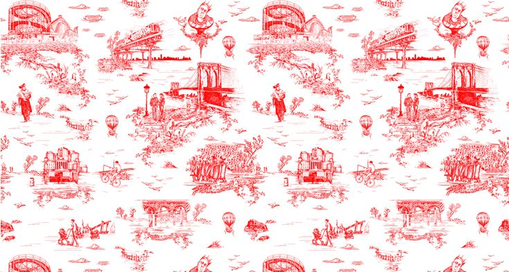 From Rapper to Wallpaper Designer: Mike D designs Brooklyn theme toile wallpaper for his new home.