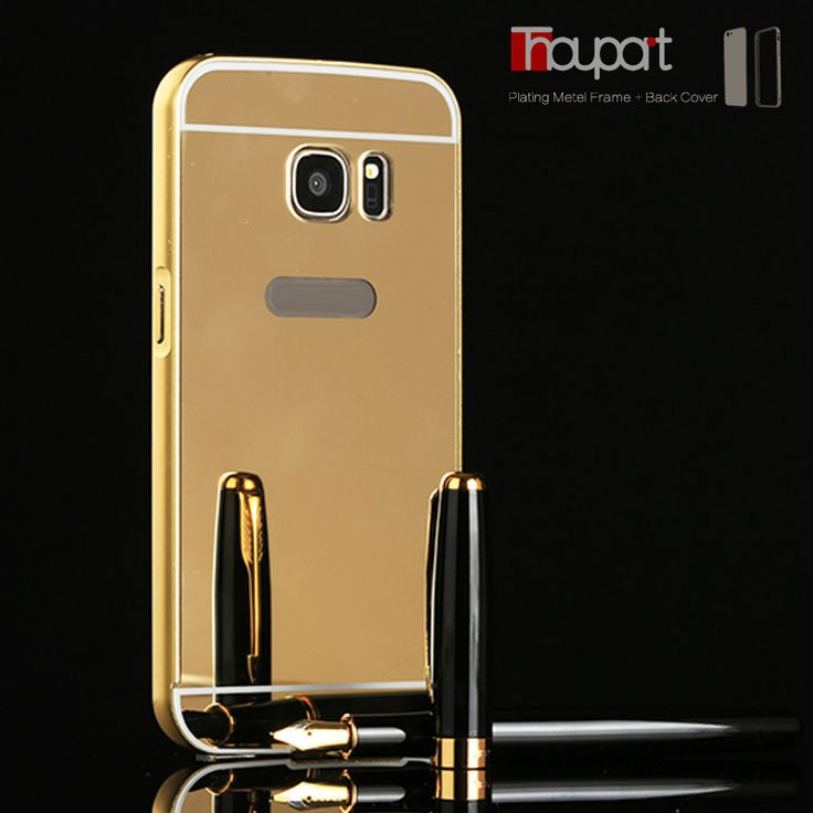 For Samsung Galaxy S7 edge G9350 G935 Luxury Plating Armor Aluminum Metal Frame + Mirror Acrylic For Samsung S7 edge Case Cover