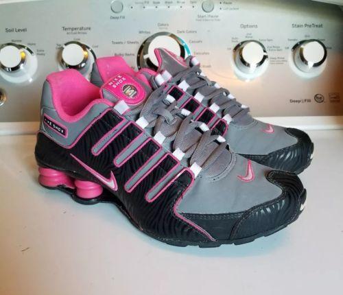 Women s Nike Shox NZ hot PINK Black Zebra Stripe Gray Size 9 Or 7Y ... ff6a45e70