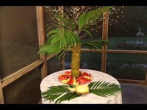 Have the hottest Summer Party on the block! My Pineapple Palm Tree  centerpiece ideas along with a fruit tray and Pina Colada Dip will make  your party a hit! - Best 25+ Pineapple Tree Centerpieces Ideas On Pinterest Pinapple