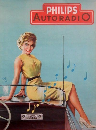 """PHILIPS AUTO RADIO"" By: Geleng R. c. 1960."