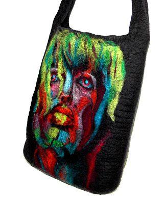 wet feltin painted bag