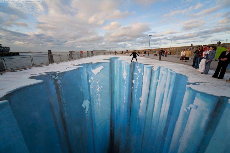 3d art edgar mueller anamorphic art chalk art - Amazing 3D Street Art Illusions That Will Play Tricks on Your Mind