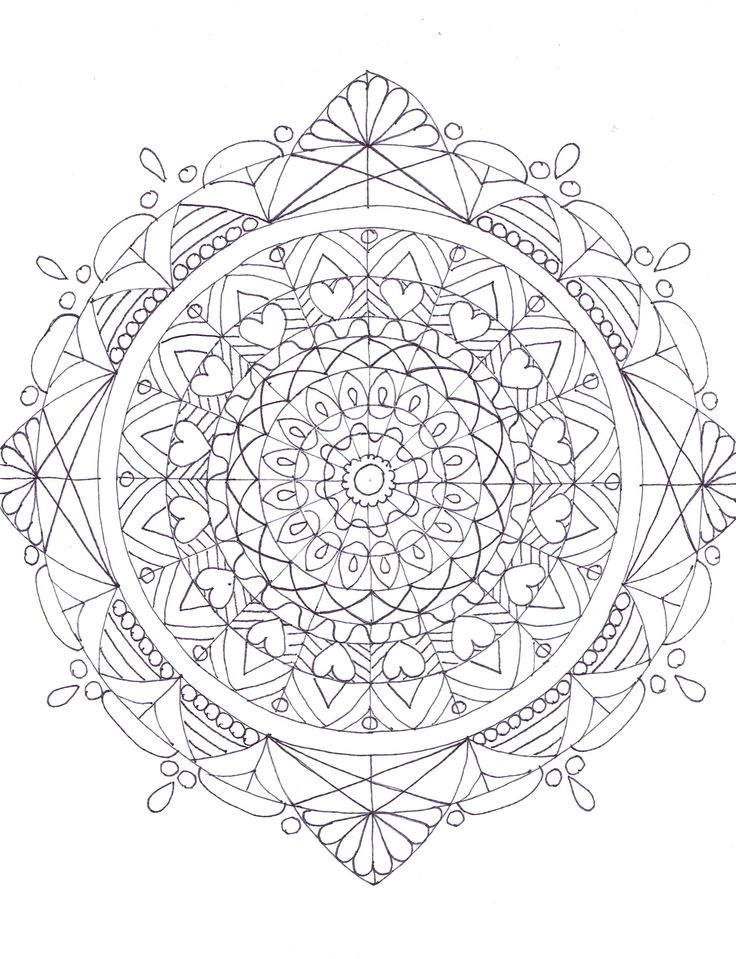 Mandala coloring page by SW