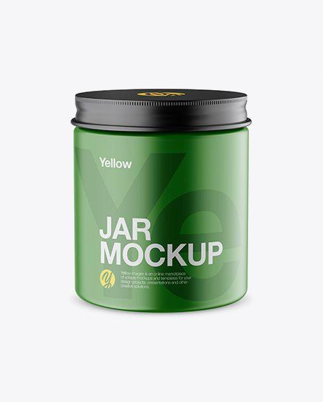 Download PSD Free PSD Mockup Matte Jar Mockup - High-Angle Shot