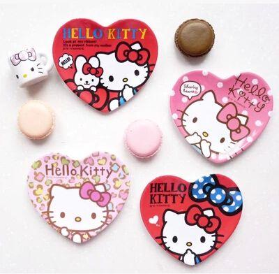 Ucuz kawaii Hello Kitty baskı melamin kalp şekli mini tabak tabak karikatür yemek kcs, Satın Kalite Yemekler ve Tabaklar doğrudan Çin Tedarikçilerden:           &n