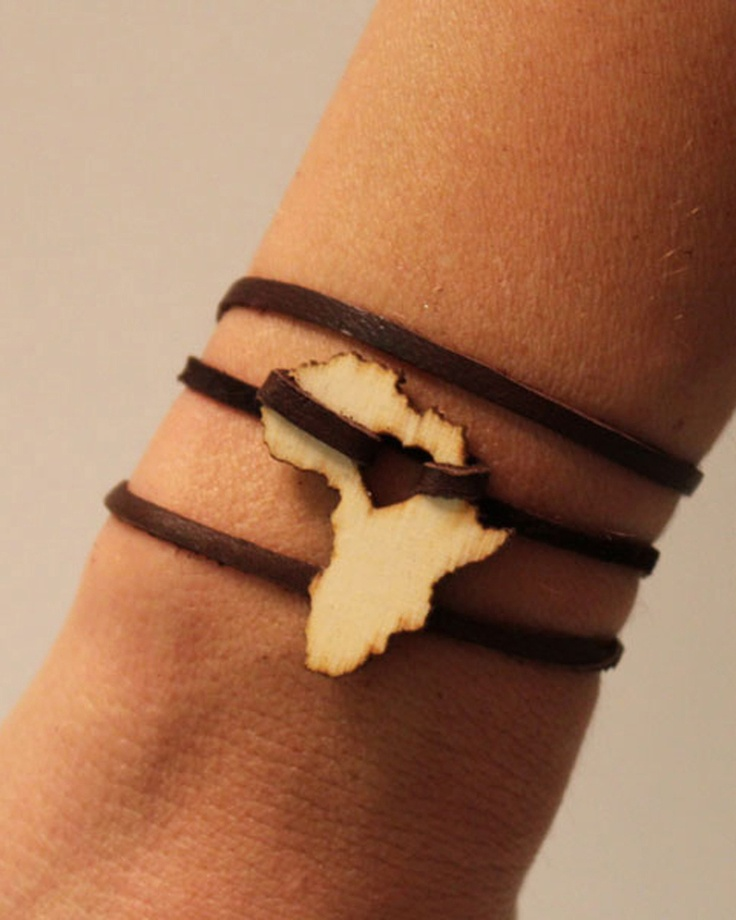 Africa Leather Wrap Bracelet - JewelMint