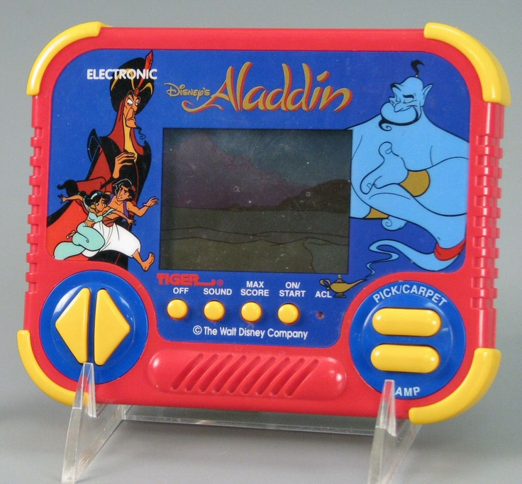 Tiger handheld Aladdin game. Blip bloop!