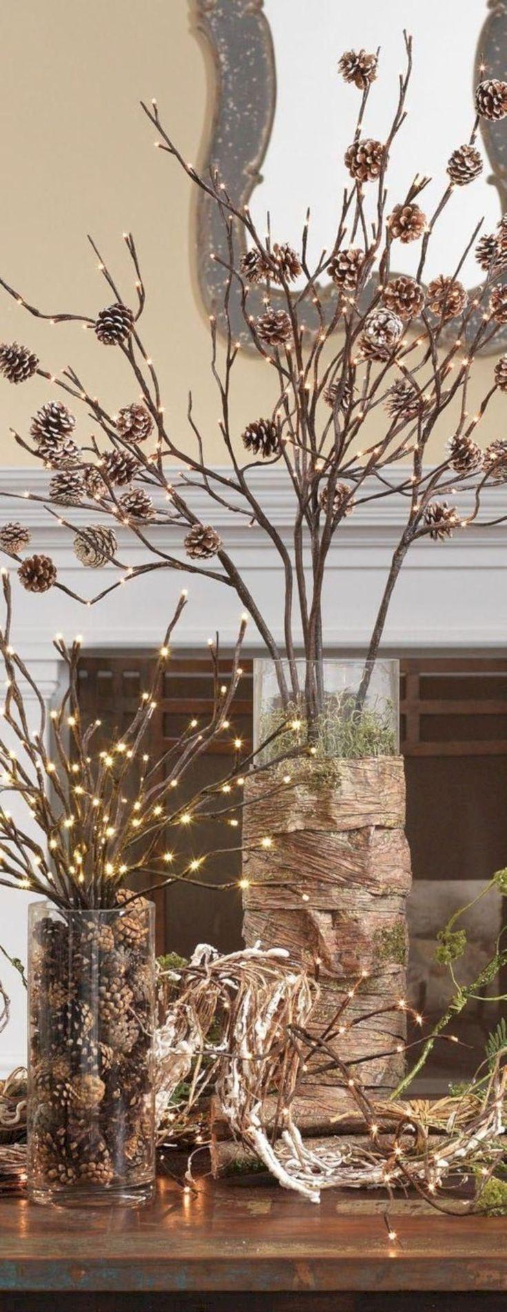 cool 20 Gorgeous DIY Rustic Christmas Decor Ideas
