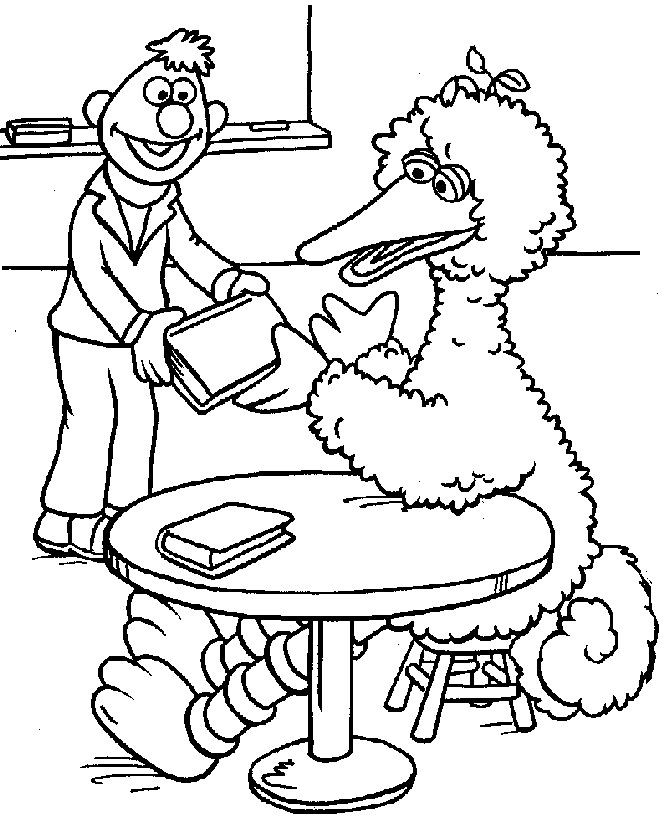 Big Bird Coloring Page Halloween Coloring Pages Halloween Big Bird