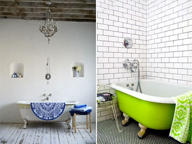 Cast Iron Tubs - cast iron tub dates as far back as the 1880s in America, where it was first marketed as a horse trough.