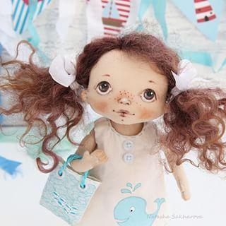 Давно не было у меня девчонок с хвостиками, исправляюсь. #куклысахаройнатальи…