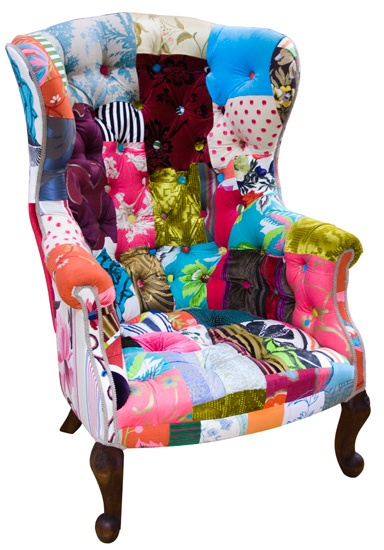 Vintage Patchwork Armchair