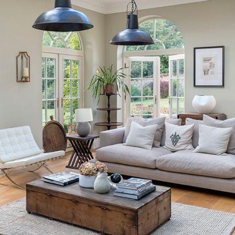 Ideen Fürs Zimmer, House Ideas, Wohnzimer, Räume, Häuser, Innenarchitektur,  Anhänger Beleuchtung, Französische Türen, Lounges