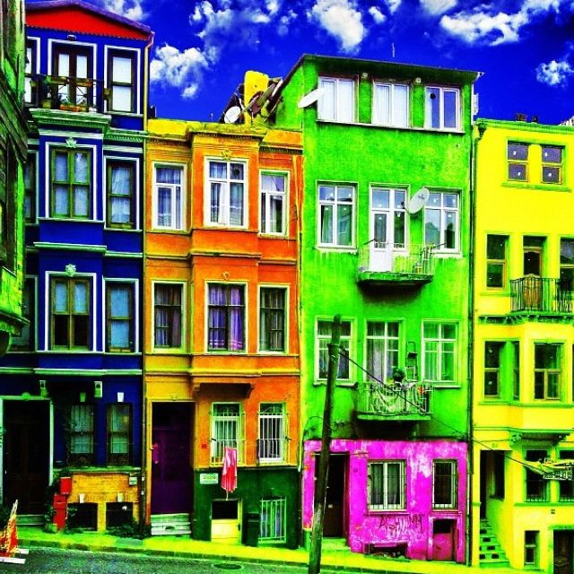 Colorful Buildings: 27 Best COLORFUL Building Images On Pinterest