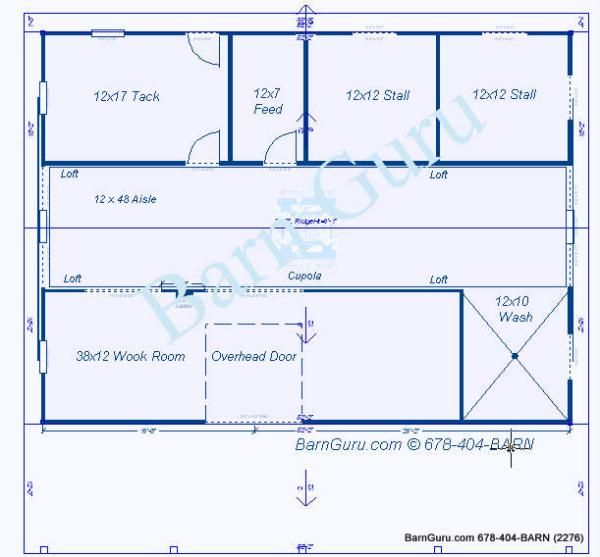 Two Stall Horse Barn Plan Barn Pinterest Horse Barns