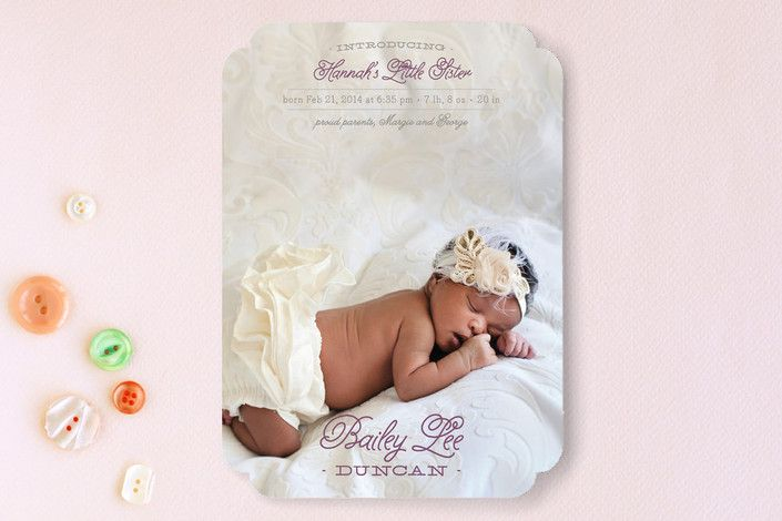Little Sibling Birth Announcements by Ann Gardner at minted.com