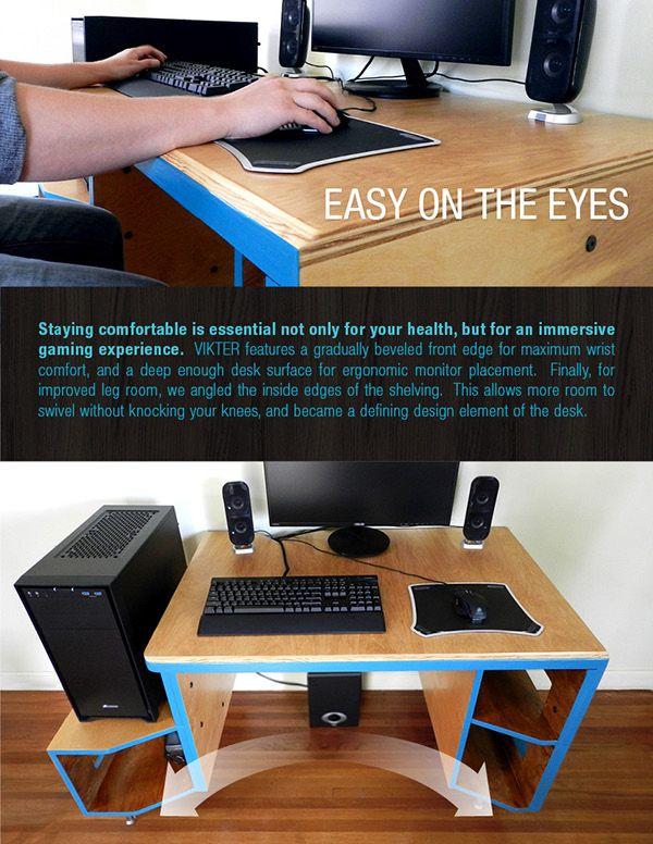 VIKTER Gaming Desk on Behance