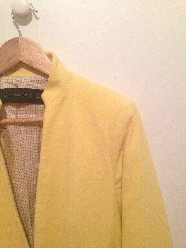 Veste blazer jaune pastel
