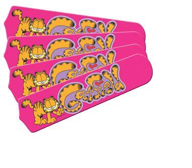 "Garfield The Cat Kids Girls Pink Ceiling Fan 42"""" Blades Only"