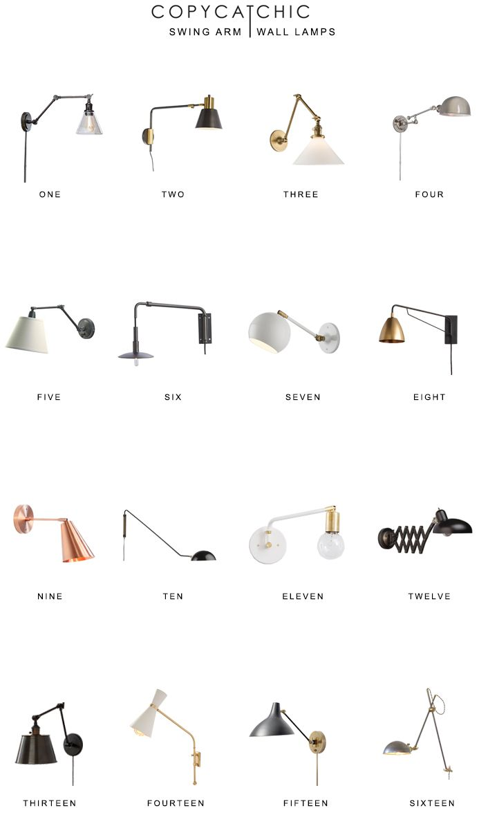 Favorite swing arm wall lamps. The latest swing arm sconces and lamps from traditional to modern. Copy Cat Chic luxe living for less budget home decor http://www.copycatchic.com/2016/12/home-trends-swing-arm-wall-lamps.html?utm_campaign=coschedule&utm_source=pinterest&utm_medium=Copy%20Cat%20Chic&utm_content=Home%20Trends%20%7C%20Swing%20Arm%20Wall%20Lamps