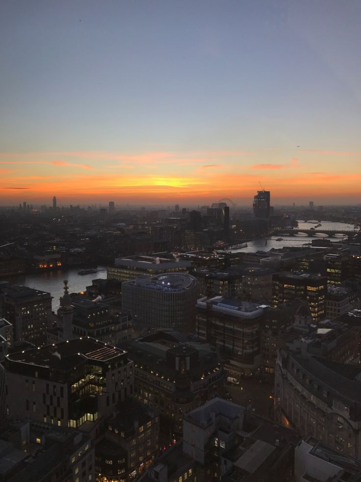 Sunrise over London sent to me by my daughter