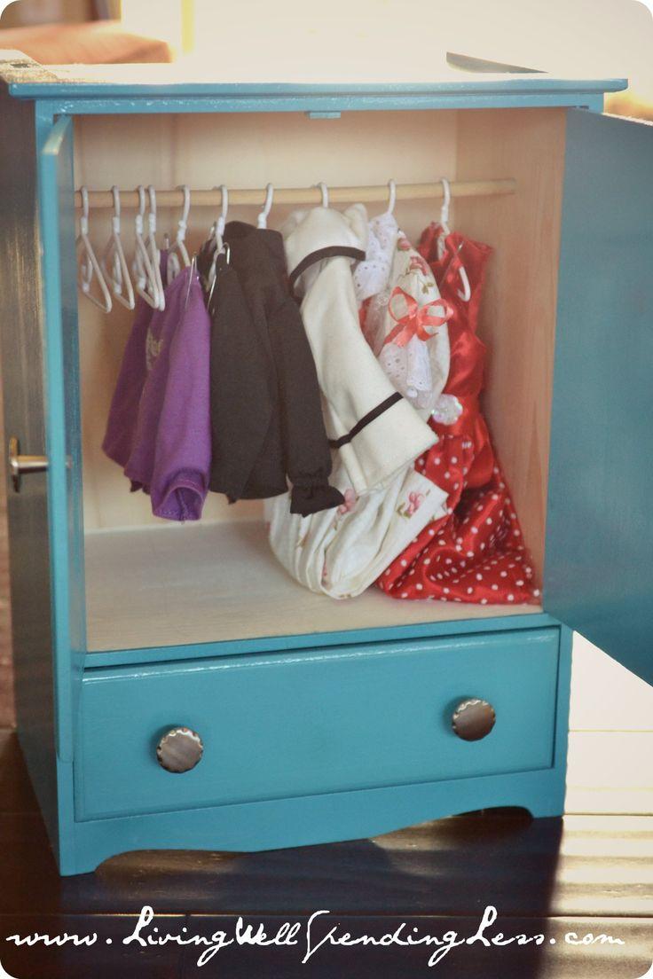 Diy Barbie Doll Organizer   Best 25 Diy Doll Storage Ideas On Pinterest Diy  Doll Wardrobe