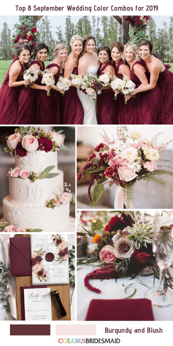 Top 8 September Wedding Color Combos for 2019 September