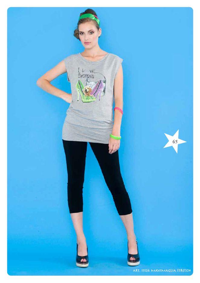 Maxi #tshirt stretch #LollyStar - Scopri tutta la collezione #SpringSummer qui --> http://www.lollystar.it/