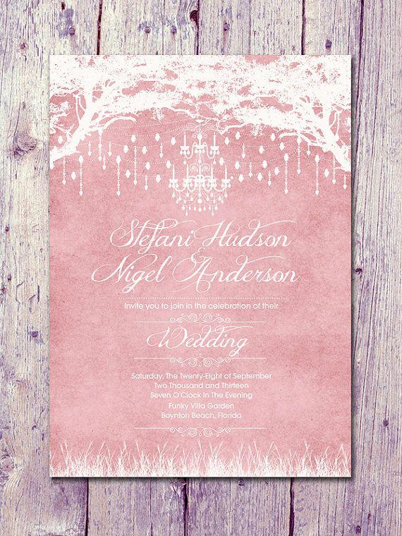 Set of 100  Pastel Pink  Royal Winter Garden by WeddingSundaeShop, $135.00