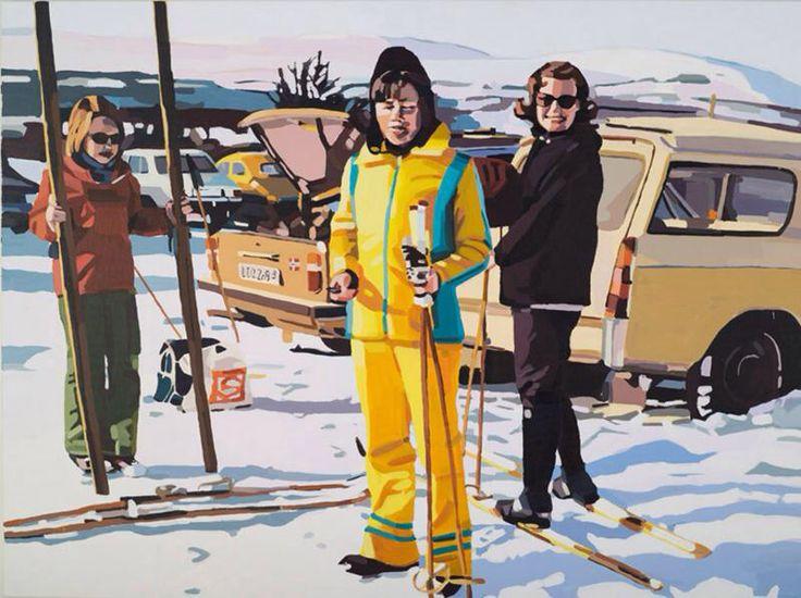 """Torunn Skjelland er utdannet ved Kunsthøgskolen i Bergen avdeling Kunstakademiet, og bor og arbeider i Bergen. Hun jobber med stedsspesifikke installasjoner, video, foto og maleri. Hun har også laget kunstprosjekter i det offentlige rom og er kanskje mest kjent fra duoen """"Vestlandske Kunstmisjon"""".  Skjellands malerier ligger nært opp til fotografiet, og hun jobber alltid i serier hvor det bærende elementet er selve motivvalget."""