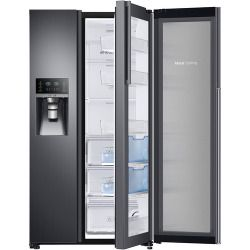 Wholesale Samsung  Showcase 21.5 Cu. Ft. Side-by-side Counter-depth Refrigerator  Black Stainless Steel Sale