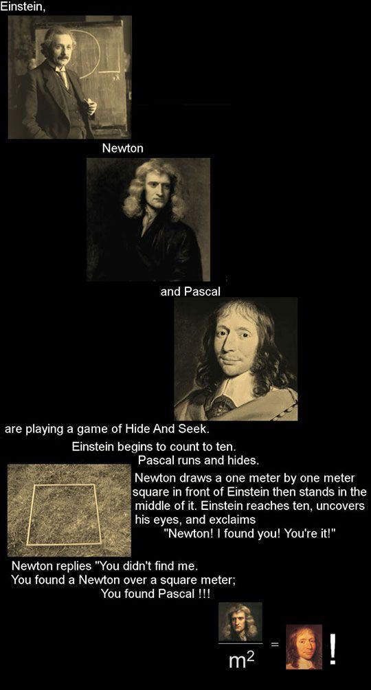 Einstein, Newton And Pascal's Game