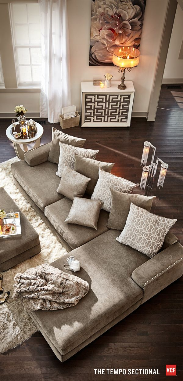 25 best ideas about brown sectional on pinterest brown - Pictures of living rooms with sectionals ...