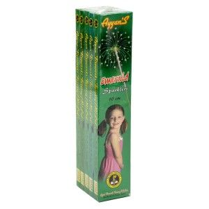 10 cm Emerald Sparklers, Buy Diwali Crackers from Ayyan Fireworks Exclusive Online store in  Bangalore. Free Shipping directly from Sivakasi Factory. Logon to AyyanOnline.com http://www.ayyanonline.com/dazzling-light/sparklers/10cm-emerald-sparklers