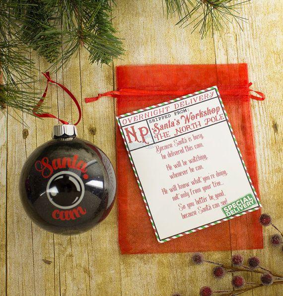 Santa Spy Cam Camera Christmas Tree Ornament Santa by LifeandLair