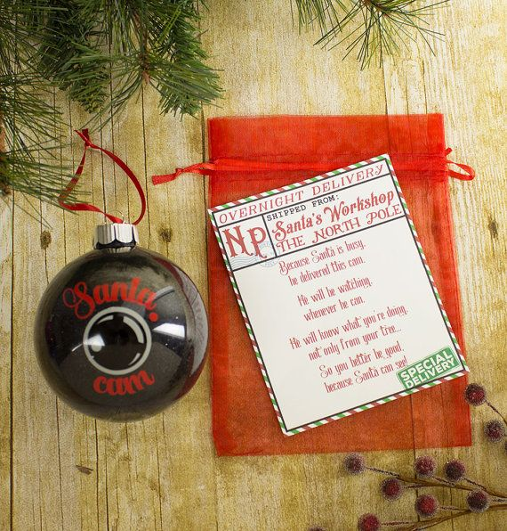 Santa Spy Cam Camera Christmas Tree Ornament Santa By