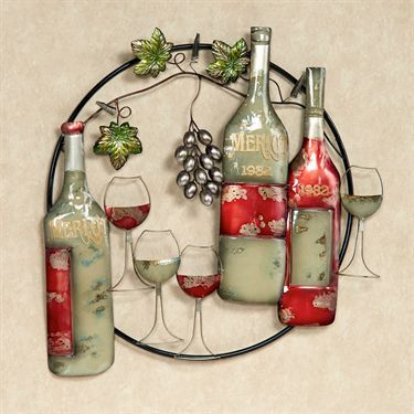 Exquisite Reds Metal Wine Wall Art & 29 best grapes and wine images on Pinterest | Home ideas Wine ...